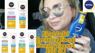 NOVO PROTETOR FACIAL BEAUTY EXPERT FPS 50 PELE NORMAL A SECA, COM COR OU OLEOSA!FAMILY SUN Nivea