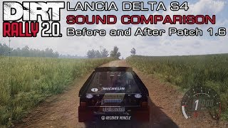 DiRT Rally 2.0 - Lancia Delta S4 Sound Comparison - Before and After Patch 1.6