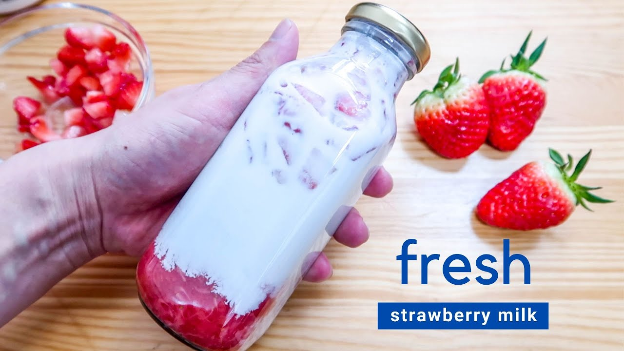 How to: Fresh Strawberry Milk | Seoul Cafe Style