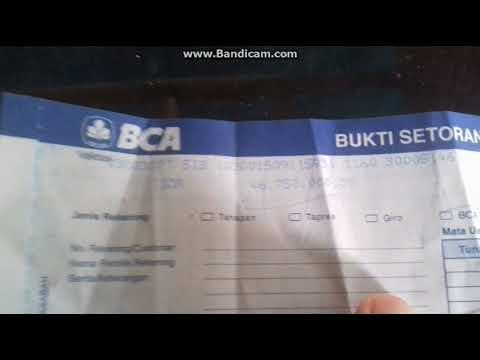 Bukti transfer lewaat Bank central asia - YouTube