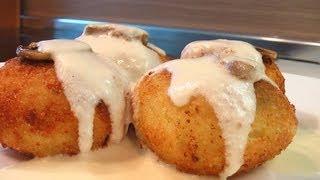 Картофельные крокеты с грибами видео рецепт.  Книга о вкусной и здоровой пище
