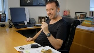 ricky gervais tells a story about how he learned to write