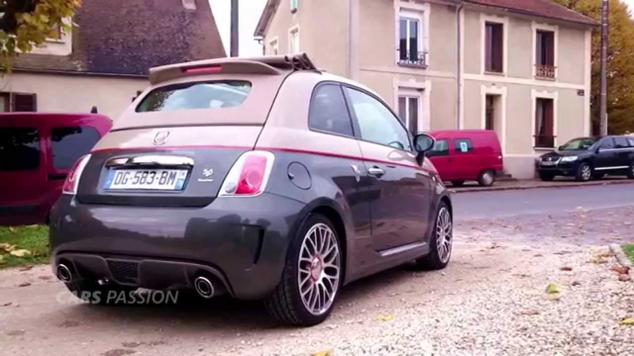 New Abarth 595 C Turismo cabriolet 2015 [Test] - YouTube