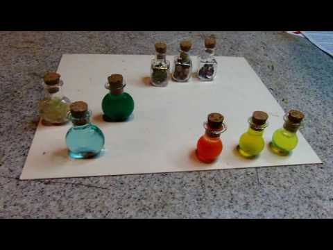 Diorama Props: Tiny Bottles And Door Knobs