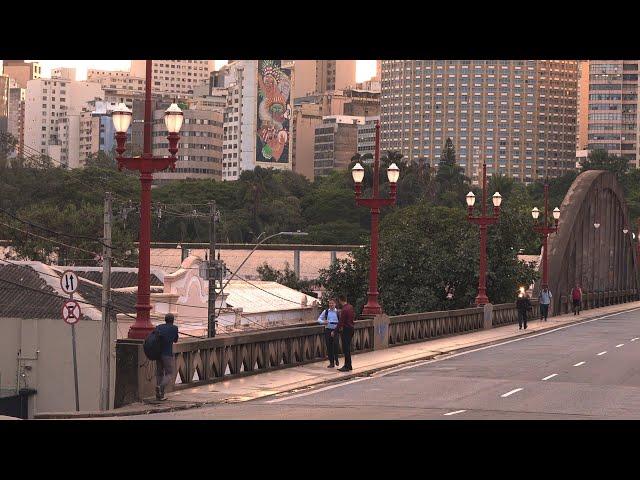 Restauração dos postes do viaduto Santa Tereza