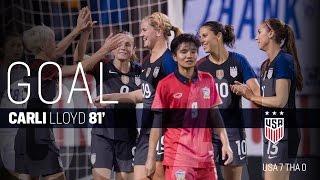 WNT vs. Thailand: Carli Lloyd Third Goal - Sept. 15, 2016