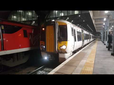 First 12 car Class 387 departs Kings Cross - 17:43 14/11/16