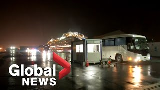 Coronavirus outbreak: Buses leave for Tokyo airport with U.S. passengers from Diamond Princess