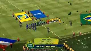 2014 FIFA World Cup Brazil - Brazil vs Croatia Gameplay [HD]