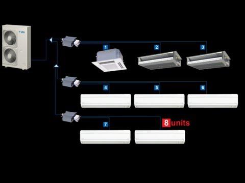 In-Home Walkthru of Daikin RMXS Super Multi (branch box) System