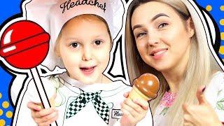 ИГРУШЕЧНАЯ ЕДА Амелька продает не настоящую еду Продавец вкусняшек Смешной Малыш Видео для детей