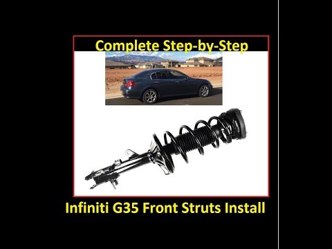 How to install front struts/shocks: 03-06 Infiniti G35