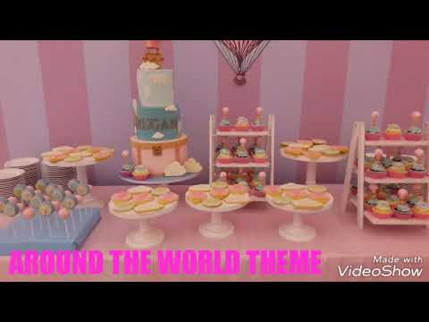 Around the world theme - kiddie party setup (Banquet catering 24)