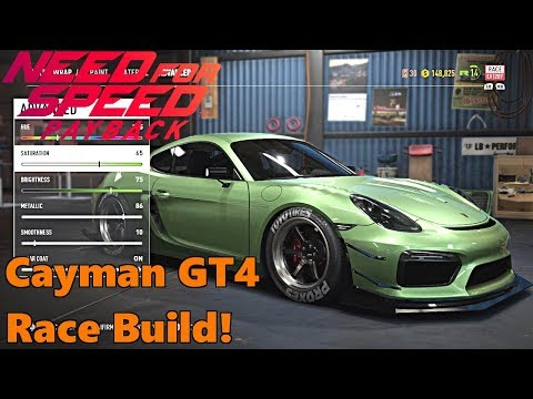 Need For Speed Payback, NEW RACE CAR BUILD! Porsche Cayman GT4 Race Build