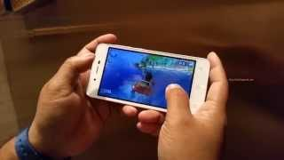micromax Canvas Spark Q380 Review: Gameplay Fruit Ninja, Beach Buggy Blitz
