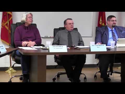 Marine City Commission Meeting, Thurs., Jan. 18, 2018