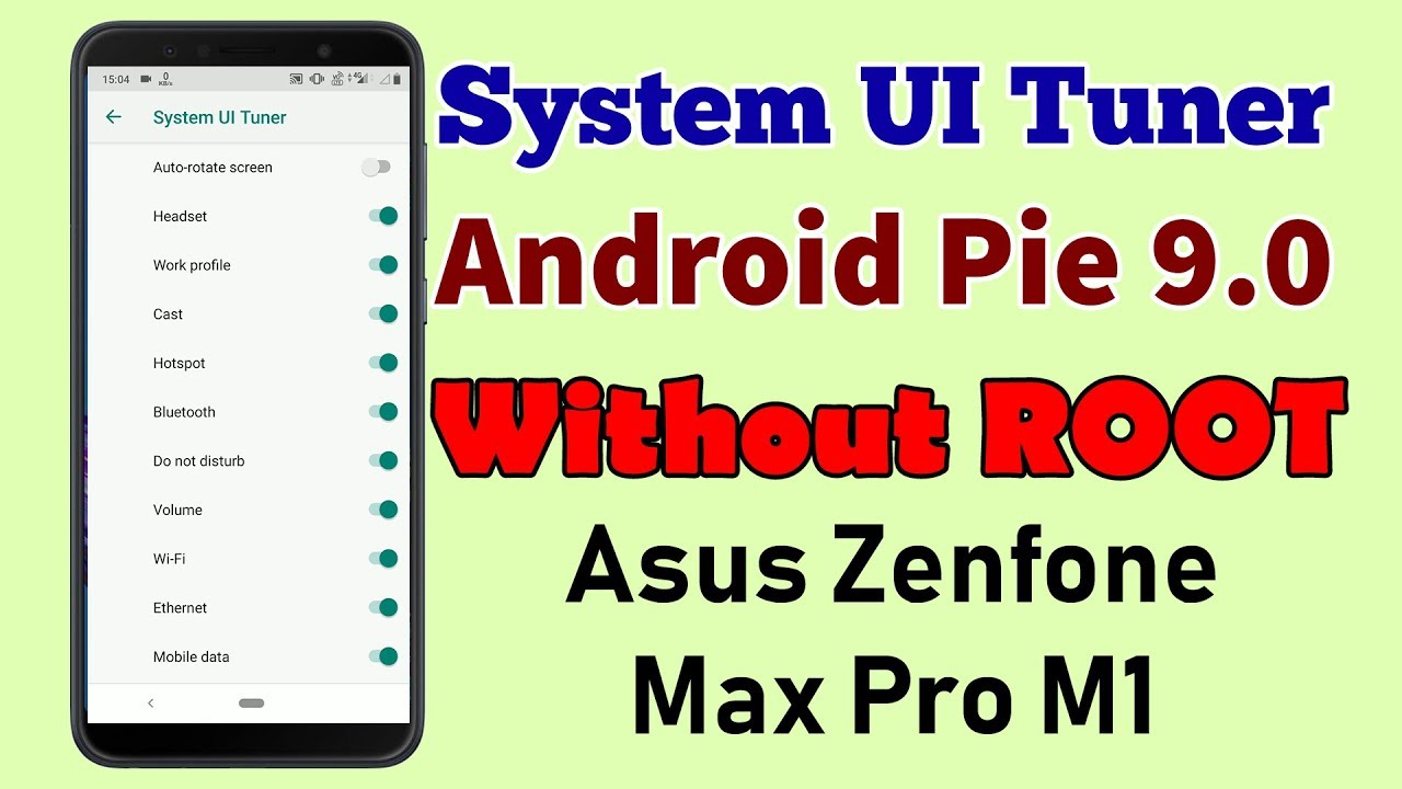 how to enable system ui tuner on android pie