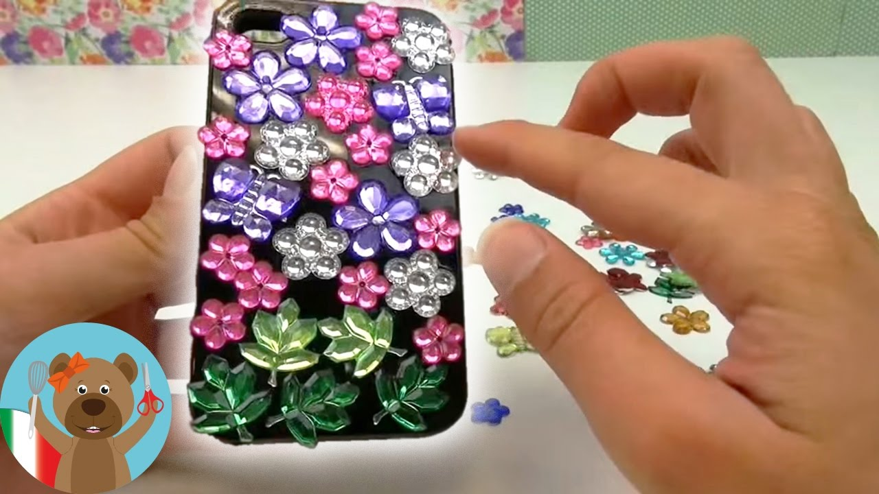 Cover Fai Da Te.Come Realizzare Una Cover Per Cellulare Fai Da Te Iphone Caso Con I Fiori Italiano Tutorial
