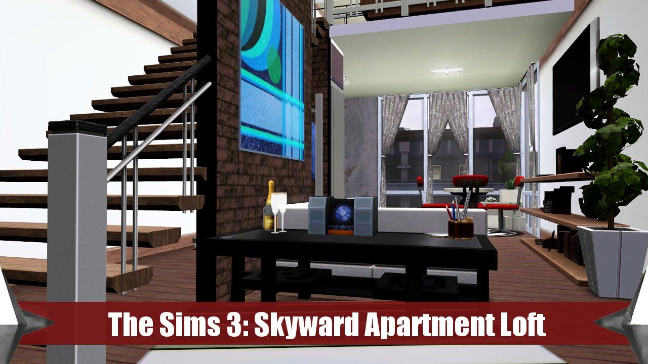 The sims 3 apartment building skyward loft youtube for Apartment design sims 3