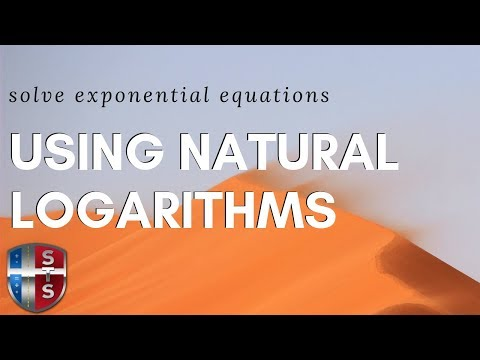 Math Analysis - Exponential Equation - Natural Logarithms (logs)