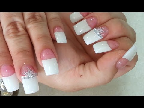 Easy Clear Gel Powder Pink And White Nails Tips