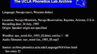 Navajo audio: nav_word-list_1993_05