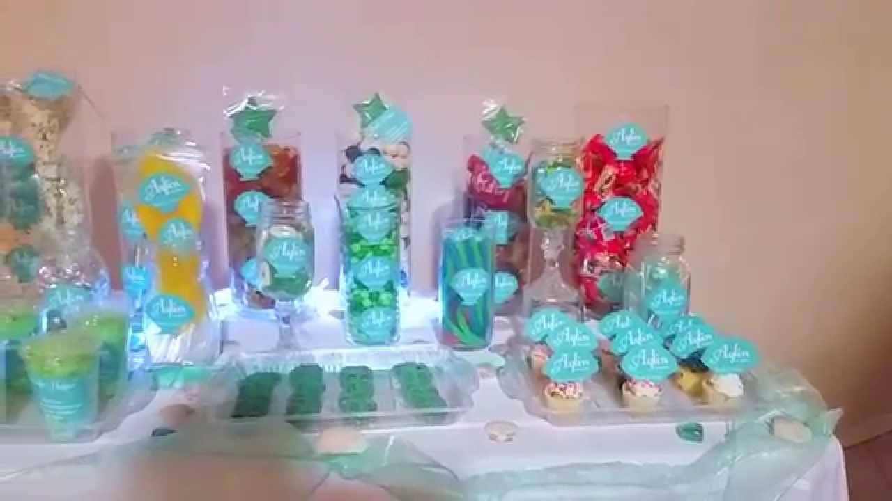 Little Mermaidsea Customize Candy Buffet Youtube