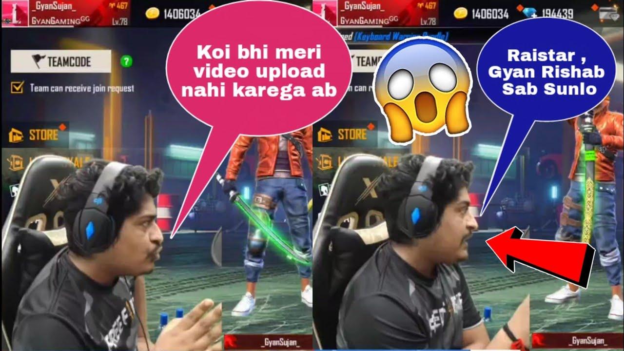 Gyan Gaming gave strike to everyone😱😳 | Gyan bhai last warning😡 #shorts #freefire #gyangaming