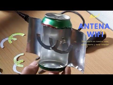 antena wifi casera ultra potente con lata de cerveza