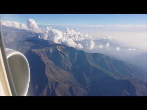 Landing into Santiago, Chile...Business Class - above the clouds & mountains