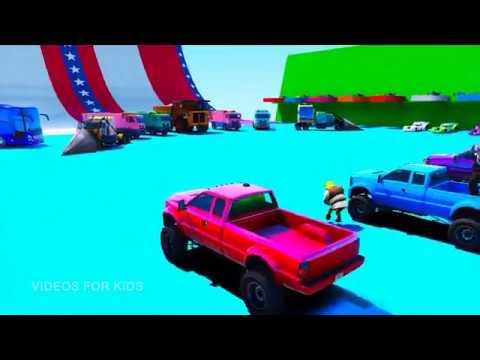 Kartun Mobil Anak Belajar Mengenal Warna Seru 1