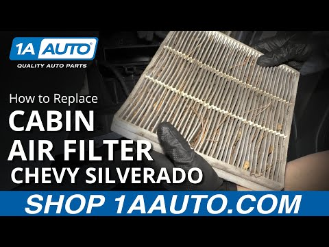 How to Replace Cabin Air Filter 14-19 Chevy Silverado