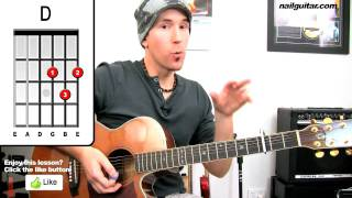 Download Video 'Love The Way You Lie' Eminem Rihanna Guitar Lesson - Easy Beginners Acoustic How To Play Tutorial MP3 3GP MP4