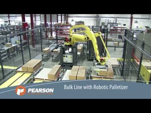 Multi-Line Robotic Palletizing System - Pearson Packaging Systems