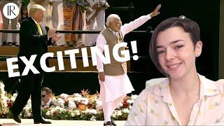 Trump in India AMERICAN REACTION!!! | #Namastetrump - #NarendraModi | Indi Rossi