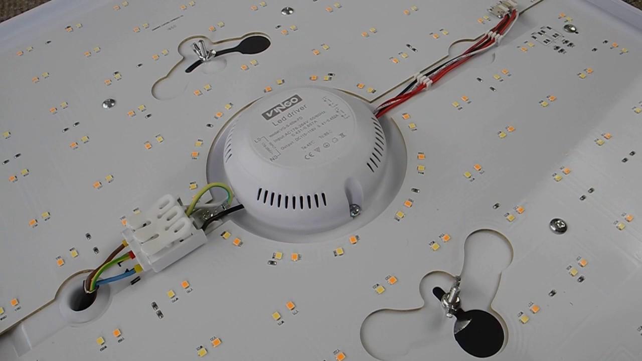 60W LED Deckenleuchte Dimmbar Deckenlampe Sternenhimmel Wohnzimmerlampe Badlampe