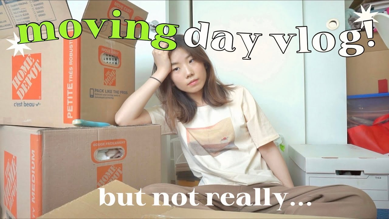 MOVING DAY VLOG! (bye old house) • organizing room, mini announcement, IKEA