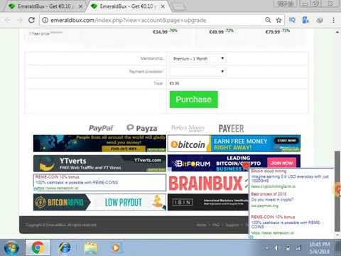 EMERALD BUX Get €0 10 per click Instant Payout at €0 earn euro ptc