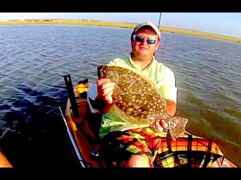 KAYAK FISHING GOOSE ISLAND STATE PARK | Flounder, Redfish & Trout | Rockport Texas