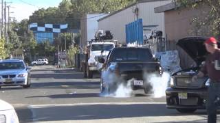 """Burnouts From """"uncle Franks Racing"""" 3rd Garage Party 2k14"""