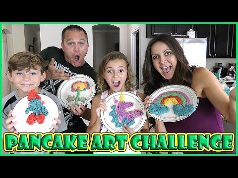 PANCAKE ART CHALLENGE | We Are The Davises