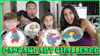 PANCAKE ART CHALLENGE | We Are The Davises