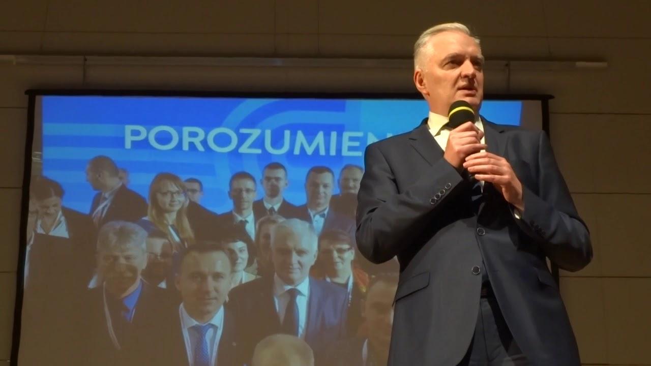Jarosław Gowin w Kielcach. Konwencja partii Porozumienie 08.12.2017