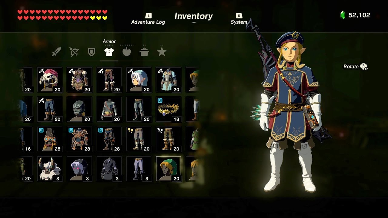 Zelda: BOTW (Royal Guard Outfit Locations) DLC Pack 2 ...