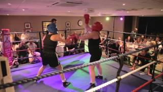 Helen Flynn vs Claire Louise Burrett - Funkin Fitness White Collar Boxing