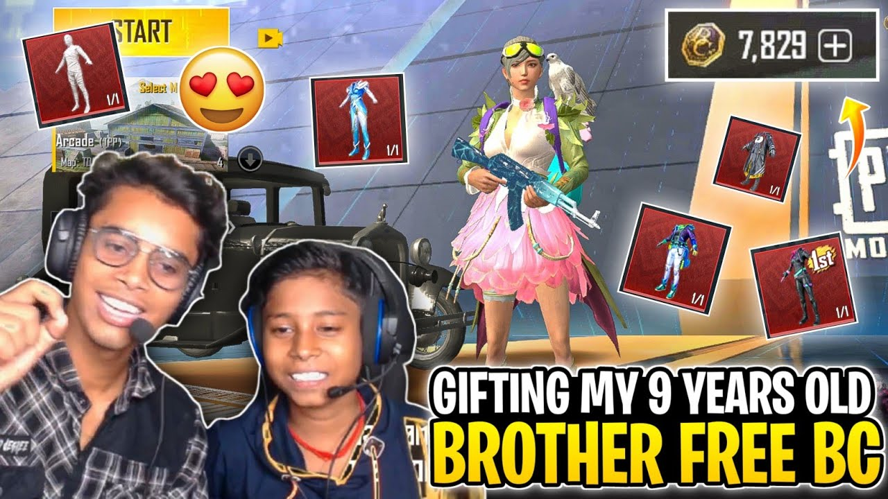 PUBG Mobile Lite - Gifting My 9 Years Old Brother Free BC In Pubg Lite 😍 | Pubg lite