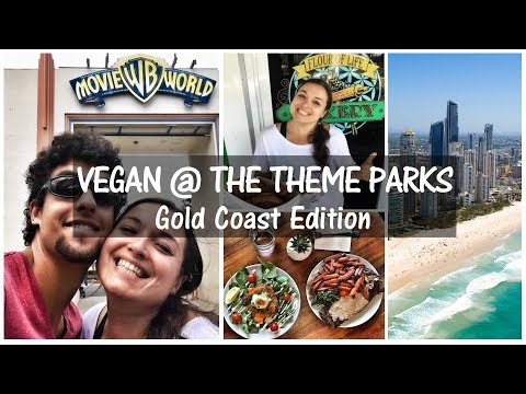 HOW TO SURVIVE AS A VEGAN @ The Theme Parks // Gold Coast Edition