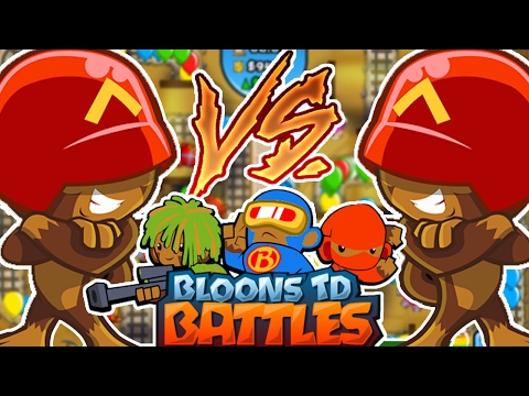 THE BEST RUSH STRATEGY CARD BATTLES! - BLOONS TOWER DEFENSE