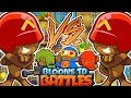 THE BEST RUSH STRATEGY CARD BATTLES! - BLOONS TOWER DEFENSE BATTLES (BTD BATTLES)