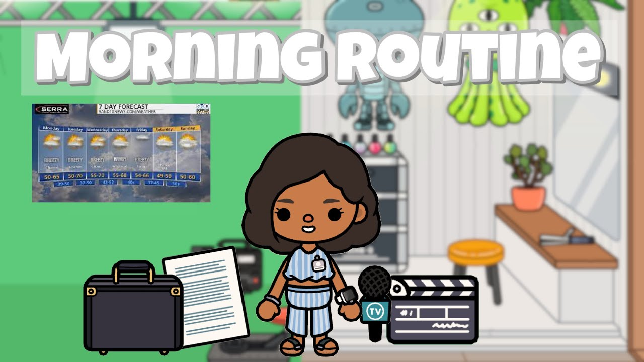 Weather Reporter Morning Routine 🎤🌤 | Toca life world